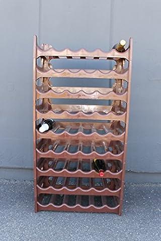 Weinregal für 60 Flaschen Flaschenregal aus Kunststoff, leicht und stabil, stapelbar modular, Braun