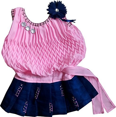 Cute Fashion Baby Girls Princess Party Wear Dresses Plating Midi Skirt Clothing Set for 3 - 6 Months