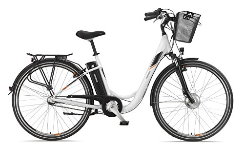 Telefunken E-Bike 28 Zoll Elektrofahrrad - Rücktritt & 3-Gang Shimano Nabenschaltung, Pedelec Citybike Alu mit Fahrradkorb, 250W und 10Ah, 36V Sitzrohrakku, RC746 Multitalent