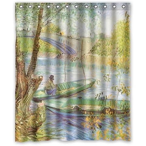 Custom Vincent Van Gogh Waterproof Polyester Fabric 60