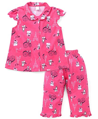 NammaBaby Girls Night Suit (2-3 years, PINK)