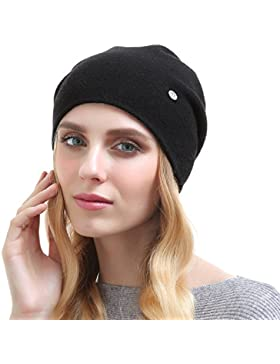 Beanie per le donne - Cappellini in cashmere solidi invernali Cappelli invernali superiori caldi unisex