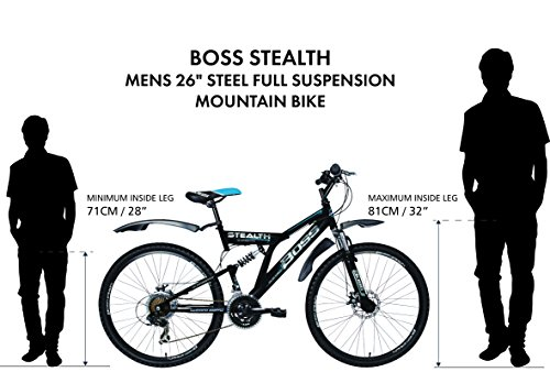 51Xdb7Vu4iL - Boss Stealth G18.5 Mens' Bike
