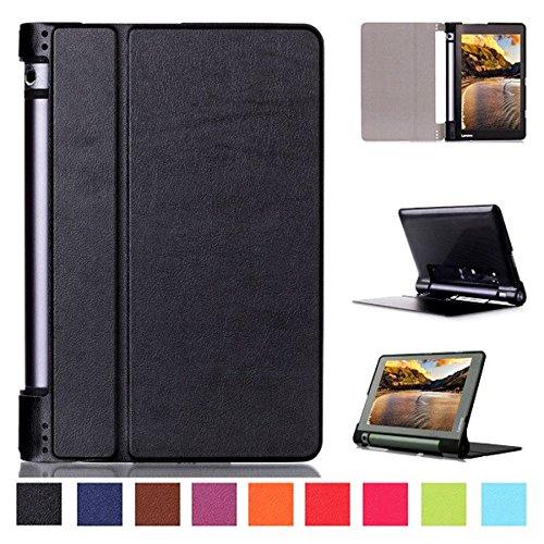 WiTa-Store Tasche für Lenovo Yoga Tab 3 YT3-850 F/L 8.0 Zoll Schutz Hülle Flip Tablet Cover Case YT3-850L YT3-850 (Schwarz) Neu