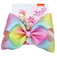 JOJO Siwa Large Pink Rainbow Signature Hair Bow - Party Favor -