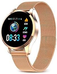GOKOO Bluetooth Smartwatch Damen Herren Sportuhr Fitnessuhr Intelligente Armbanduhr mit Schrittzähler Pulsmesser Schlafmonitor für Android IOS