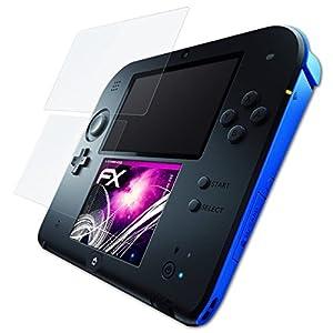 atFoliX Glasfolie kompatibel mit Nintendo 2DS Panzerfolie, 9H Hybrid-Glass FX Schutzpanzer Folie (1er Set)