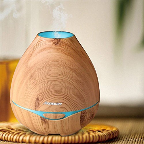 aroma-diffuser-300ml-yfeel-diffusor-luftbefeuchter-oil-dufte-humidifier-holzmaserung-led-mit-7-farbe
