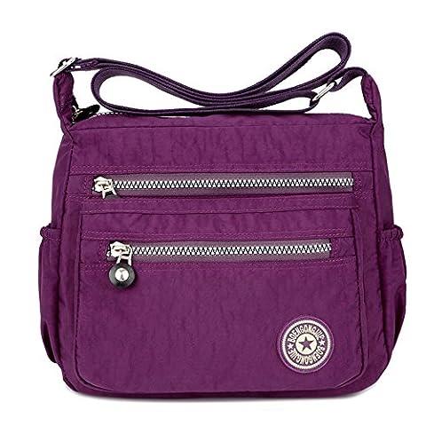 Purses and Shoulder Handbags for Women Crossbody Bag Messenger Bags (Purple)
