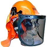 ESeno Industrial forestal de seguridad para motosierra/Kit con protectores de oído, viseras y protector de cuello
