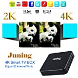 Juning Smart Android TV BOX, S805 Quad Core CPU 1GB+8GB 2GHz Ultra HD WIFI TV BOX Support 4K * 2K...