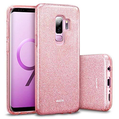 ESR Glitzer Hülle kompatibel mit Samsung Galaxy S9 Plus, Sparkle TPU Schutzhülle, 3-Schicht, Kabelloses Laden kompatibel, Handyhülle kompatibel mit S9+ 6,2