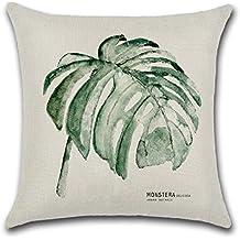 Excelsio - Funda de cojín para sofá, cama, sala de estar, dormitorio, decoración del hogar, cuadrada, de algodón y lino, 45 x 45 cm