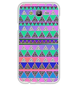 Fiobs Designer Back Case Cover for Samsung Galaxy Grand Max G720 (Snakes Colorful Design Pattern Triangles)