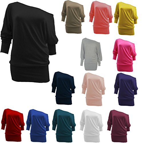 BEAULOOK -  Maglia a manica lunga  - Donna Brown