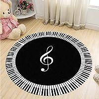 ZXHJK Piano Classique Tapis Table Et Chaise Coussin Salon Symbole De La Musique