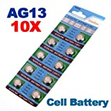 10 x AG13 LR44 G13-A D303 L1154 L1154F Alkaline Knopfzelle