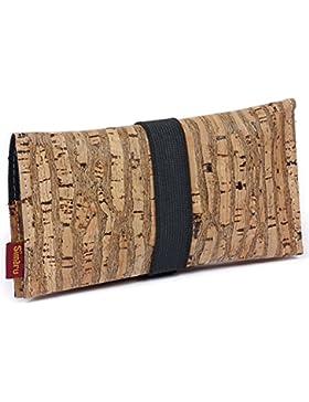 Bolsa para Tabaco hecha de corcho/piel de corcho vegana - Funda, estuche para tabaco de liar con compartimento...
