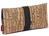 SIMARU Bolsa para Tabaco hecha de corcho / piel de corcho vegana. Robusta y duradera. Funda, estuche para tabaco de liar. Bolsillo adicional para mechero, filtros y papeles. Varios colores (raizes)