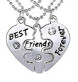 Inception Pro Infinite Collana Best Friends - Migliori Amici/Migliori Amiche (Cuore Puzzle - 3 Pezzi)
