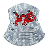 hgbygvuy Mask Chinese Dragon Red Windproof Soft Comfortable Face Mask Bandanas Neckwarmer for Outdoors And Sport