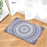 Heylookhere Vintage Mandala Fußmatte Fußmatte Badezimmer Küche saugfähigen Anti-Rutsch-Pad (Stil 15)