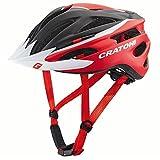 Cratoni Pacer Fahrradhelm, Black/Red Matt, S-M