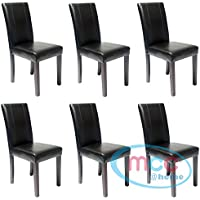Amazon.fr : lot de 6 chaises simili cuir : Cuisine & Maison