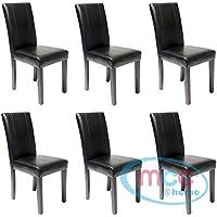 lot de 6 chaises de salle manger en simili cuir avec pieds - Chaise Simili Cuir