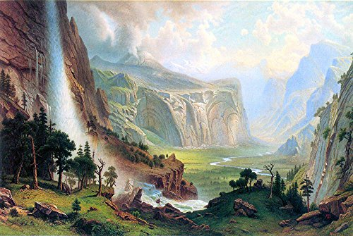 Das Museum Outlet - Half Dome In Yosemite by Bierstadt - A3 Poster Multi Half Dome