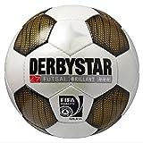 Derbystar Brillant Futsal Wettspielball Indoor Hallen Fußball Ball Football weiß gold