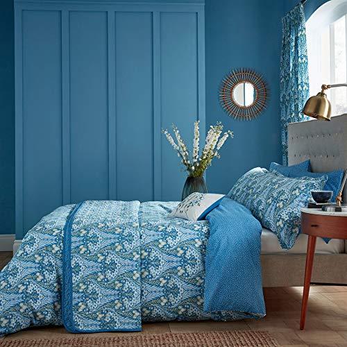 V&A Alyssum Duvet Cover Set, King, Blue for sale  Delivered anywhere in UK