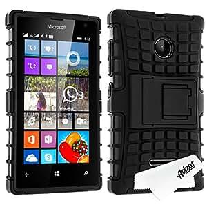 Avizar - Coque Protection Antichocs Nokia / Microsoft Lumia 532 - Bimatière Noir