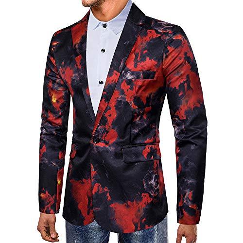 UFACE Modisch Herren Party Anzug Suits Kostüme Festliche Anzüge in Normalem Schnitt mit lustigen Mustern inkl Jackett Hose Krawatte Blazer Herren Sportlich - Schnelle Kostenlose Kostüm