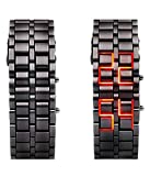 EDEAL Digital Black Steel belt Led Unise...