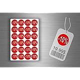 Lot etiquette sticker autocollant promotion soldes magasin promotion - -10% / x 96
