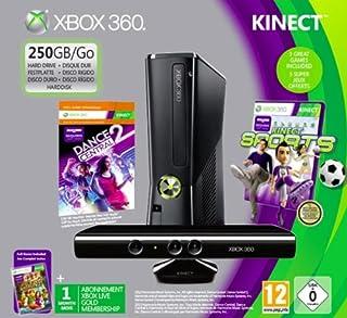 Console Xbox 360 250 Go + Sensore Kinect + Dance central 2 (Kinect) + Sports (Kinect) + Kinect adventures ! + Abbonamento Xbox Live Gold 1 Mese [import italien] (B008O4XC8G) | Amazon price tracker / tracking, Amazon price history charts, Amazon price watches, Amazon price drop alerts