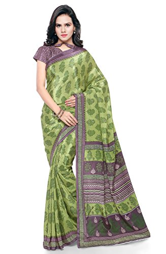 Triveni Women's Crepe Saree (Tssu13302_Green)