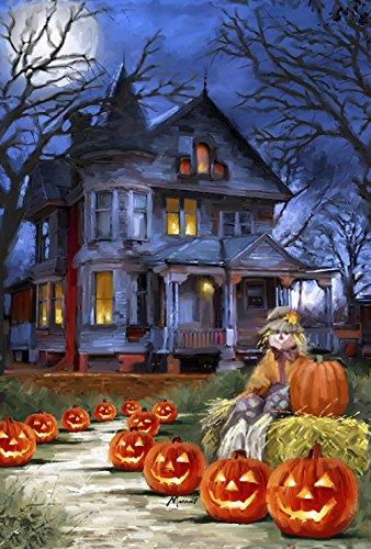 Jack Einfache Kostüm - Toland Home Garden Gruseliges Manor 31,8 x 45,7 cm Deko Halloween Jack o Laterne Kürbis Garten Flagge