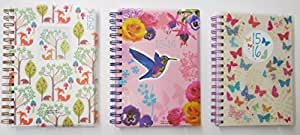 2015 -2016 academic A5 one day to a page student diary spiral wire bound x 1 single