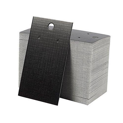 00-pack Ohrring Karte, Ohrring Display Karten für die Ohrstecker, Ohrringe, Schwarz, 8,9x 5,1cm ()