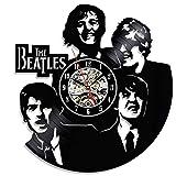 GLJF Wanduhr Schallplatte Uhren Batteriebetriebene Dekoriert Wohnzimmer Geschenk Einzigartig Die Beatles