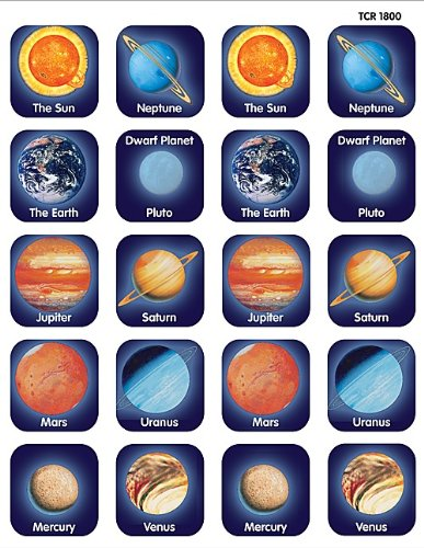 TEACHER CREATED RESOURCES PLANETS STICKERS  MULTI COLOR (TCR 1800)