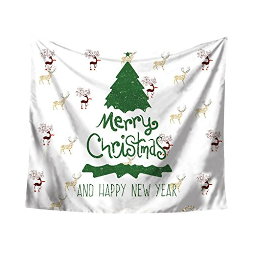 Weihnachtsfeier Tapisserie Wandbehang Home Dekore Tagesdecke Duschvorhang Von Bovake (Colour B) Duschvorhang Pique