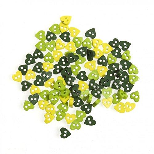 Impex Herz Miniatur-Tasten grün-Pro Pack -