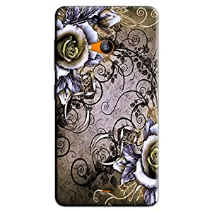 BROWN FLORAL BACK COVER FOR MICROSOFT LUMIA 535