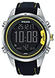 Pulsar Herren Digital Quarz Uhr mit Leder Armband P5A007X1