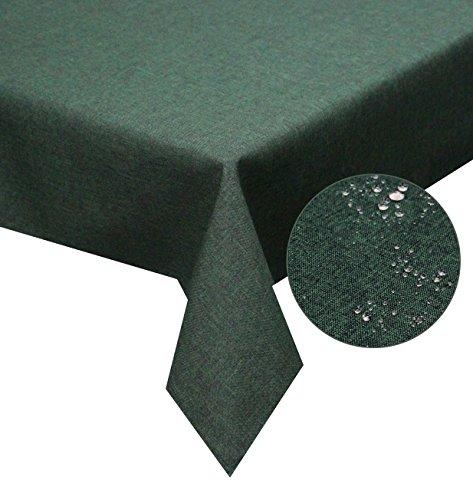 tischdecke-dunkelgrun-110x160cm-lotuseffekt-abwaschbar-schmutz-und-wasserabweisend-eckig-grosse-farb