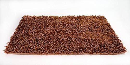 amel 100% Baumwolle Chenille Teppich Läufer, Fußmatten, Alle Teppiche, Küche Teppiche, Küche-Teppiche, Badewanne Mats, Bad Teppiche Modern 20 x 32 Braun ()