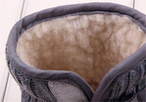 Chaussures bébé Kolylong Bebe premiers pas Bowknot Semelle souple Hiver chaud Bottes Gris